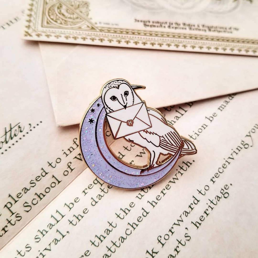 Owl Post Enamel Pin