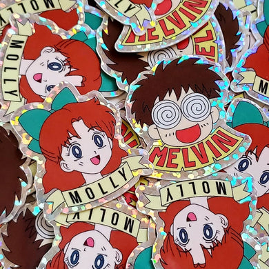 Sailor Moon: Melvin & Molly Die-Cut Holographic Stickers
