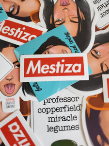 Warning Graphite Content: Vinyl Sticker Assortment (Mestiza, Mestizo, Professor Copperfield, Less Tired and more)