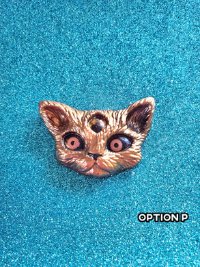 Resin Kitty Demon Pins
