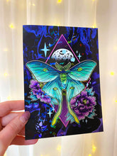 Load image into Gallery viewer, Luna Moth Rainbow Sparkle Print