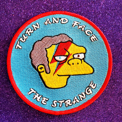 Turn and Face the Strange Patch - Simpsons x Bowie Mash Up