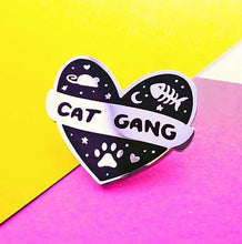 Load image into Gallery viewer, CAT GANG PIN BADGE