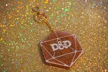 Load image into Gallery viewer, D&D Die Resin Keychain