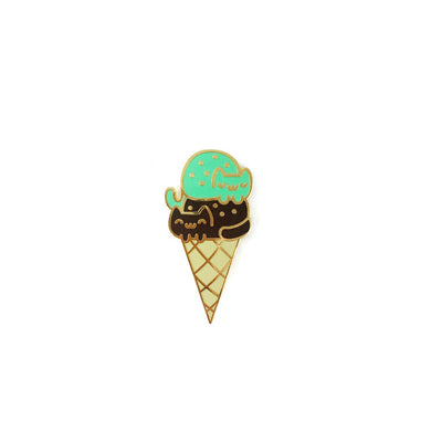 DOUBLE DIP CAT CREAM CONE LAPEL PIN
