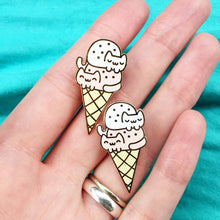 Load image into Gallery viewer, DOUBLE DIP CAT CREAM CONE LAPEL PIN