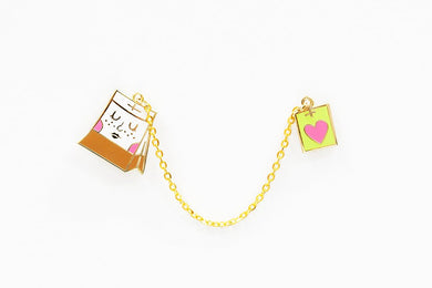 TEA BAG LAPEL PIN