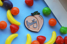 Load image into Gallery viewer, FRUITY PEACH ENAMEL LAPEL PIN