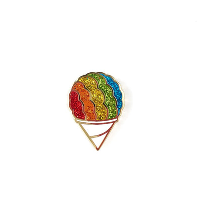 SNOW CONE GLITTER LAPEL PIN