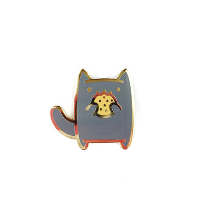 SNACK ATTACK CAT • COOKIE KITTEN LAPEL PIN
