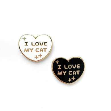 I LOVE MY CAT LAPEL PIN •