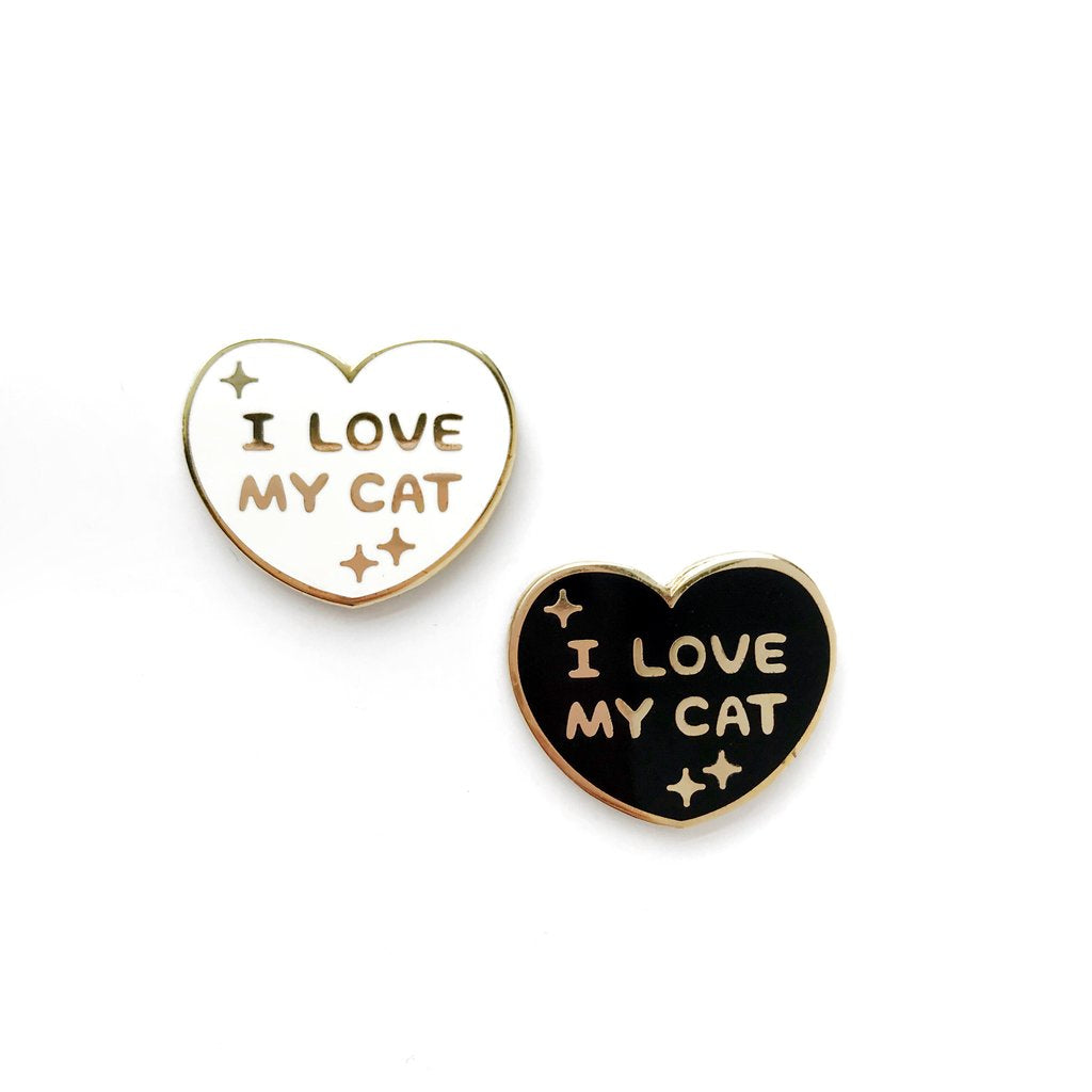 I LOVE MY CAT(S) LAPEL PIN •