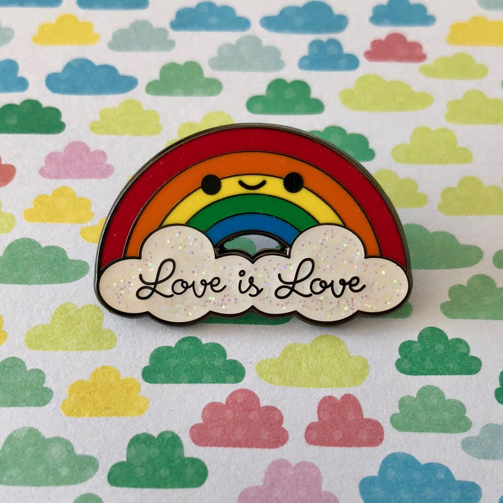 LOVE IS LOVE RAINBOW ENAMEL PIN
