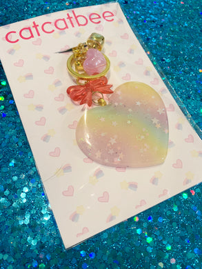 Rainbow Heart Keychain