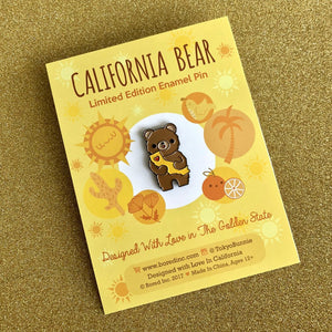 CALIFORNIA BEAR THE GOLDEN STATE ENAMEL PIN