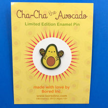 Load image into Gallery viewer, CHA-CHA THE AVOCADO WITH MARACAS ENAMEL PIN