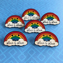 Load image into Gallery viewer, LOVE IS LOVE RAINBOW ENAMEL PIN