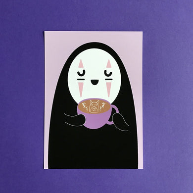 5X7 ART PRINT NO-FACE LATTE SPIRITED AWAY ART PRINT
