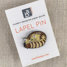 Load image into Gallery viewer, Sleepy Kitty Lapel Pin