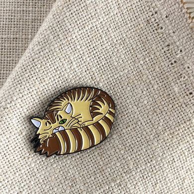 Sleepy Kitty Lapel Pin