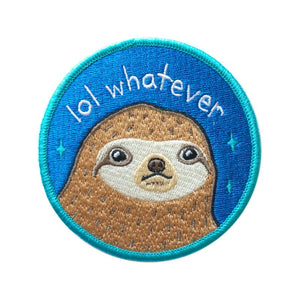 "LOL WHATEVER SLOTH 3"" IRON-ON PATCH"