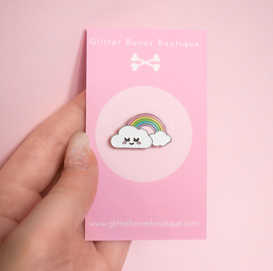 Cloud and Rainbow Pin