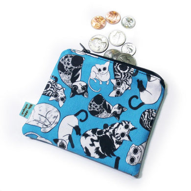 All Over Cats Mini Zipper Pouch
