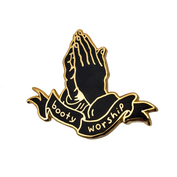 Booty Worship Gold Pin