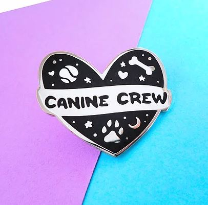 CANINE CREW PIN BADGE