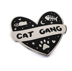 CAT GANG PIN BADGE