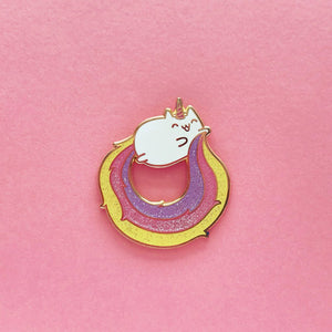 CATICORN GLITTER LAPEL PIN