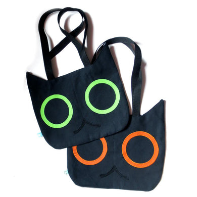 Black Cat Head Tote Bag