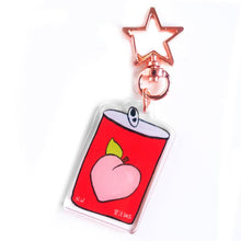 Load image into Gallery viewer, Japanese Snack Keychain - Pocky, Onigiri, Peach Nectar
