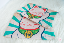 Load image into Gallery viewer, Lucky Cat Zippered Pouch