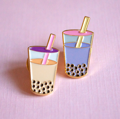 Bubble Tea Boba Enamel Pin