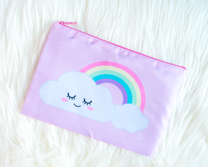 Happy Cloud Zippered Pouch