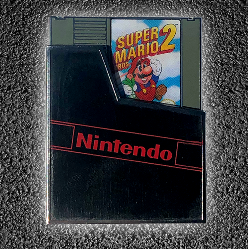 Super Mario Brothers 2 Cartridge (Slider Pin)