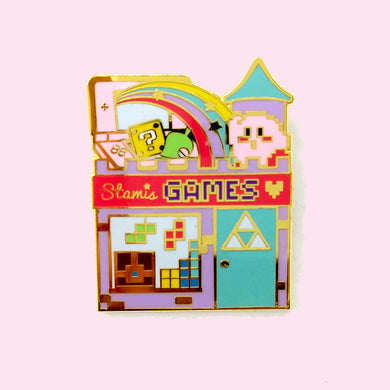 The Video Game Shop Pin