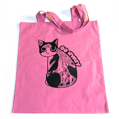 Go Away Cat Tote Bag