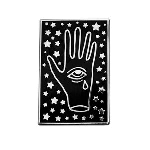 Crying Third Eye Hand Pin Silver