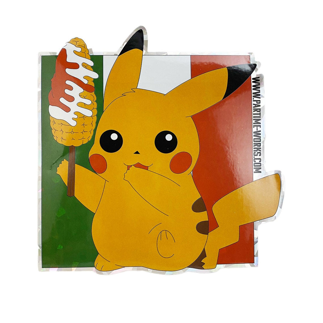 Pika Elote Holographic Sticker