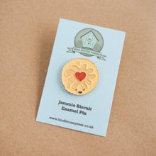 Load image into Gallery viewer, Jammy Dodger Biscuit enamel pin badge - Jammie pin padge