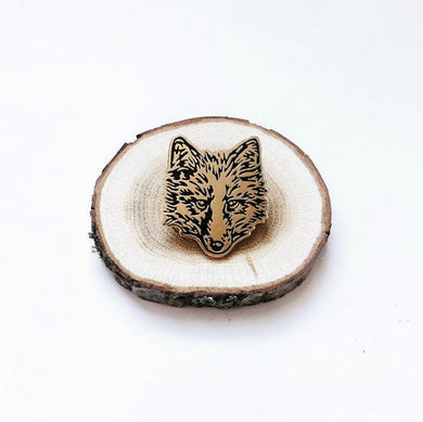 FUR FACE wolf fox Enamel Pin