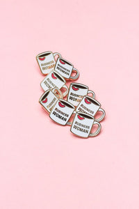 Sassy Flair: Business Woman Enamel Lapel Pin - Button