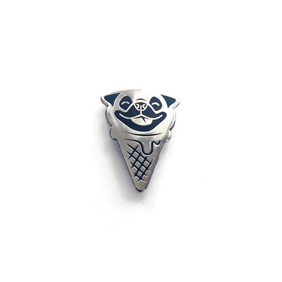 Pug Ice Cream Enamel Pin
