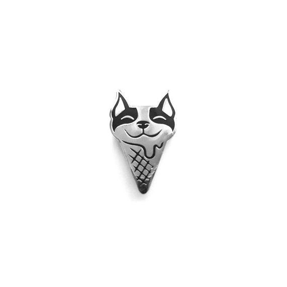 Boston Terrier Ice Cream Enamel Pin