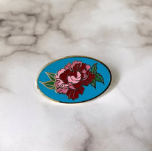 Load image into Gallery viewer, NEW! Pink Peony / Hard Enamel Lapel Pin or Hat Pin