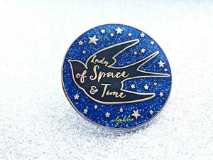 Lady of Space and Time Pin - Swallow Pin