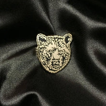 Load image into Gallery viewer, Bear Pin - Bear face Gold Pin