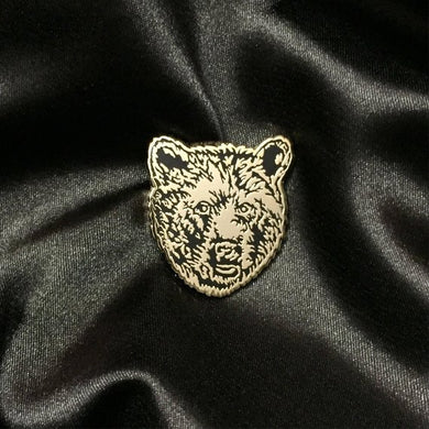 Bear Pin - Bear face Gold Pin